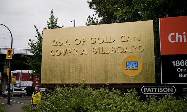 2 ounces of Gold Can Cover a Billboard