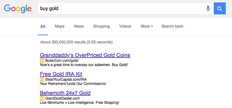 Buy Gold Google Search - How it really is