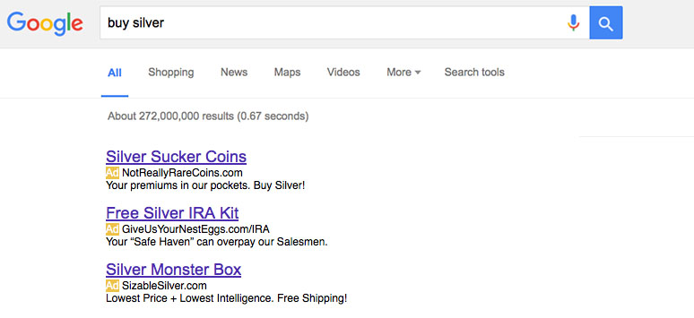 Buy Silver Google Search - How it really is