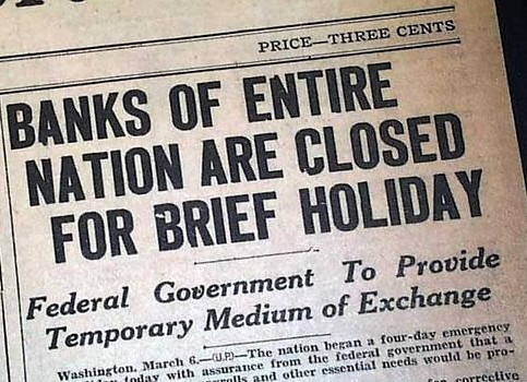 Copy of Newspaper, Bank Holiday 1933