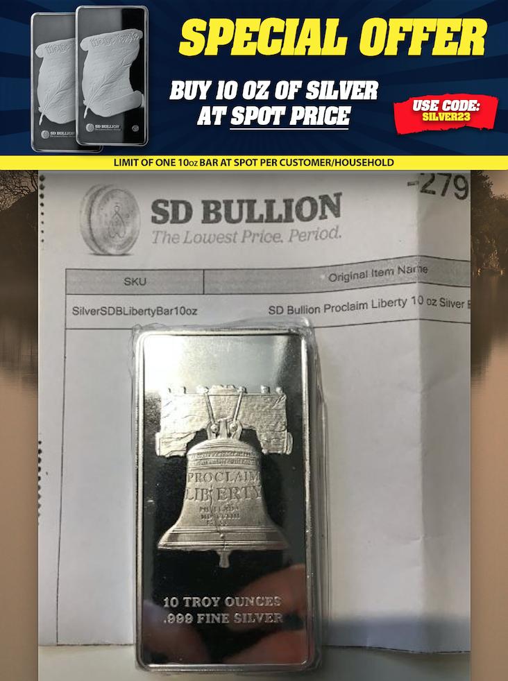 Buy silver bullion at spot price SD Bullion SDBullion.com