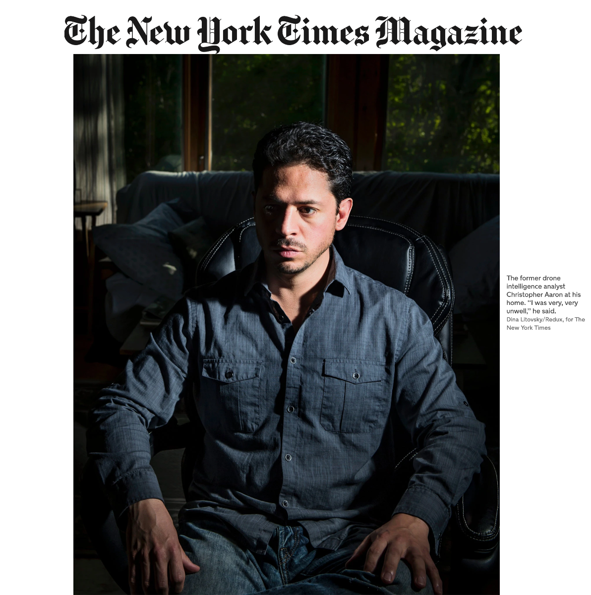 Christopher Aaron New York Times Magazine Wounds of the Drone Warrior