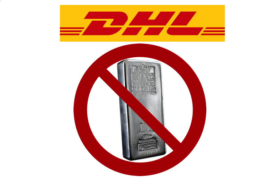 Does DHL ship silver DHL shipment prohibited SD Bullion SDBullion.com