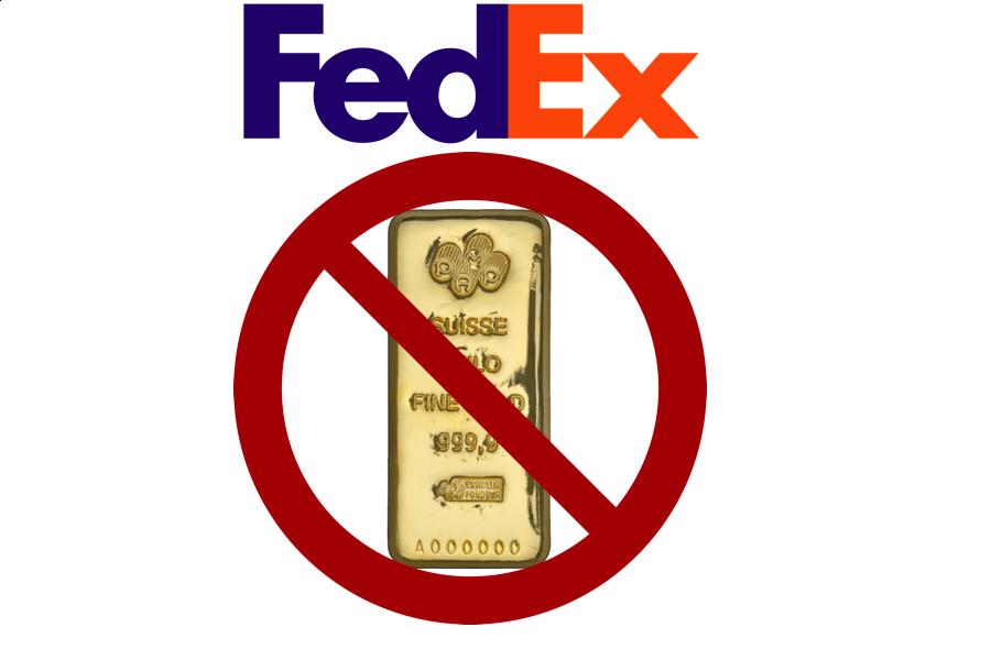 FedEx Gold Shipment Prohibited SD Bullion SDBullion.com