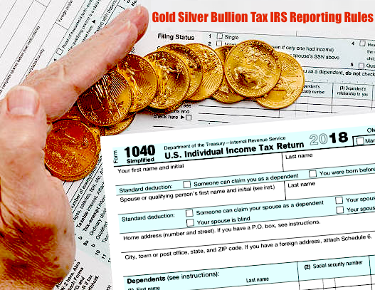 IRS Precious Metals Reporting Tax Rules USA