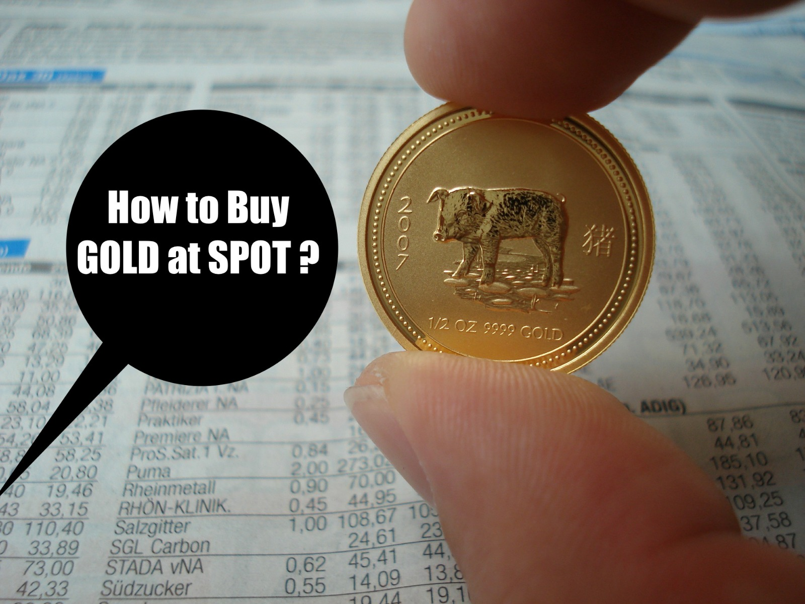 how to spot gold