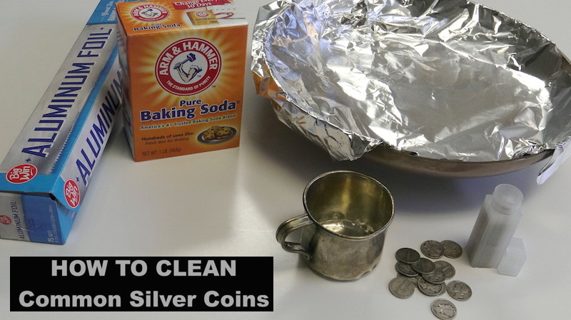 How to Clean Silver Coins Baking Soda Method How to Clean Silver Coins Cleaning Silver Coins SD Bullion SDBullion.com/blog/how-clean-silver-coins