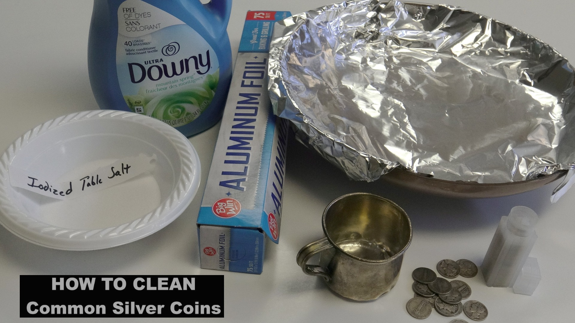 How to Clean Silver Coins Fabric Softener Method