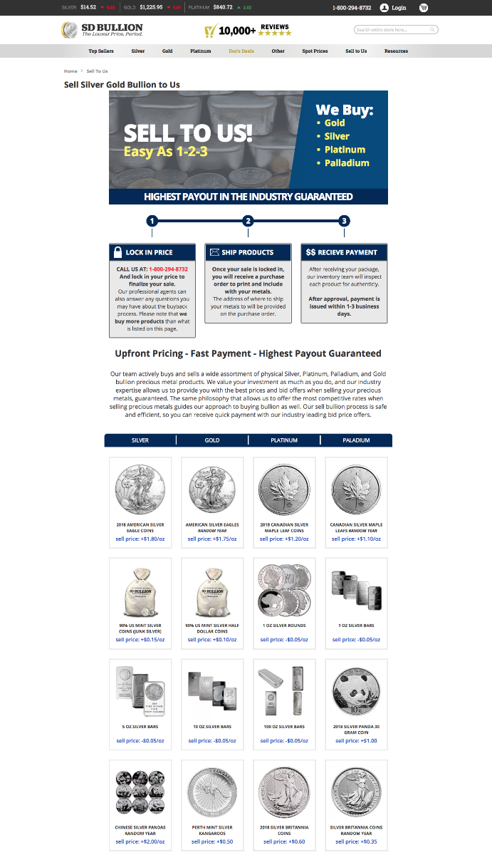 How to Sell Silver Bullion Online SD Bullion SDBullion.com/sell