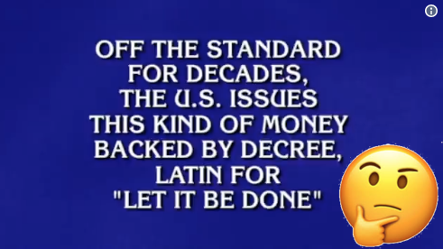 Gold Standard on Jeopardy