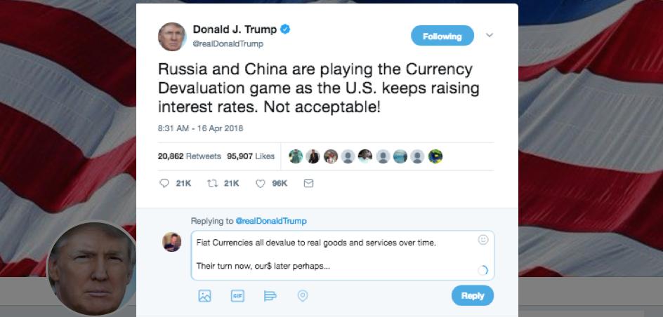 currency manipulator China Russia Trump Tweet SD Bullion SDBullion.com