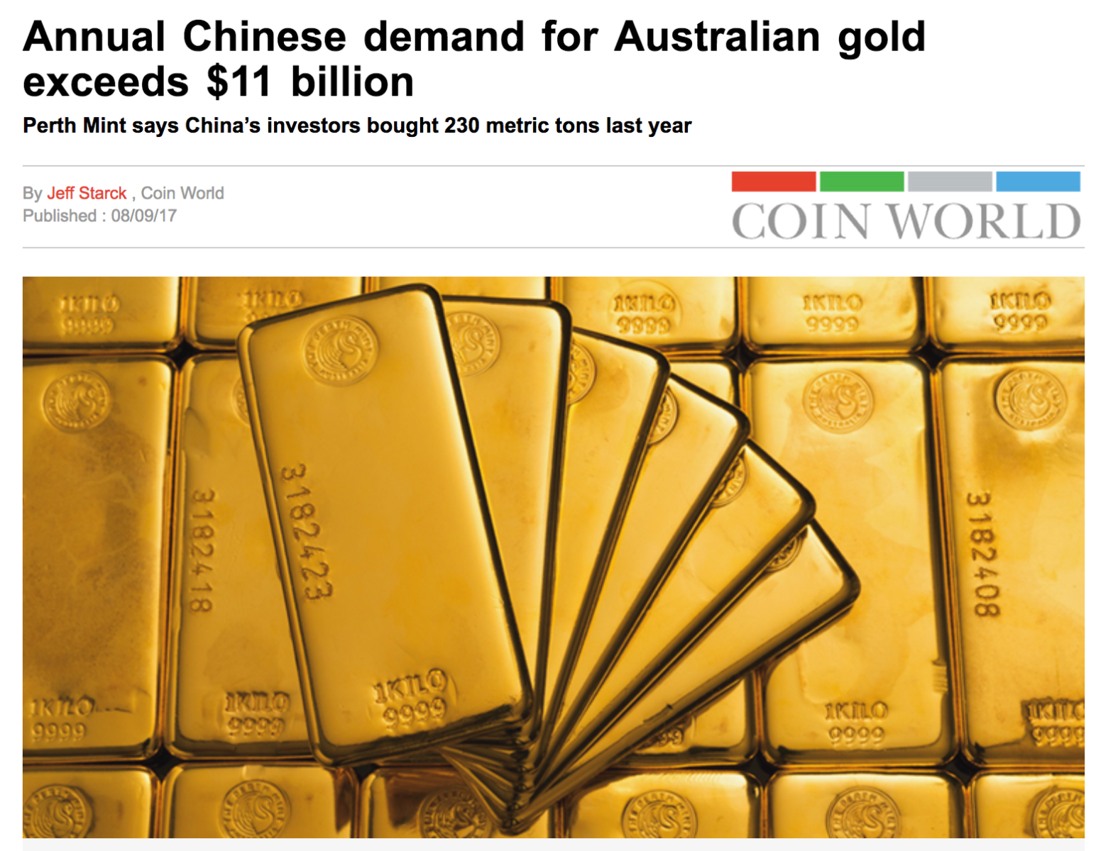 Perth Mint China Gold Chinese Gold Demand SD Bullion SDBullion.com