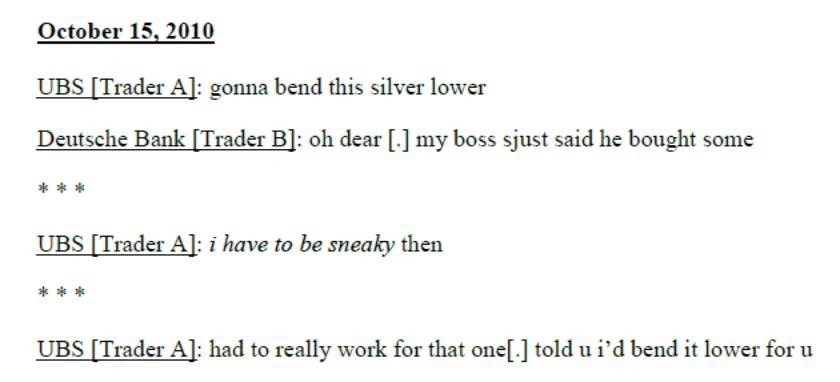 Silver Price Manipulation Chat Room transcript SD Bullion