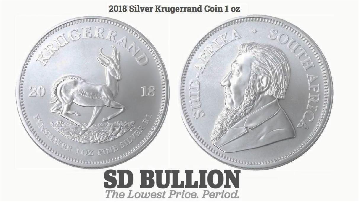 2018 Silver Krugerrand Bullion Coin South African Mint SD Bullion SDBullion.com