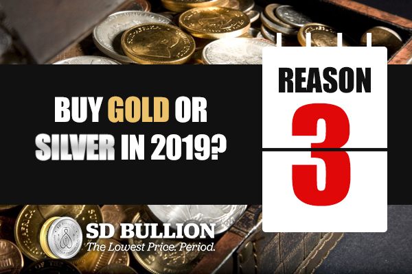Should I Buy Gold or Silver in 2019? (Reason #3)