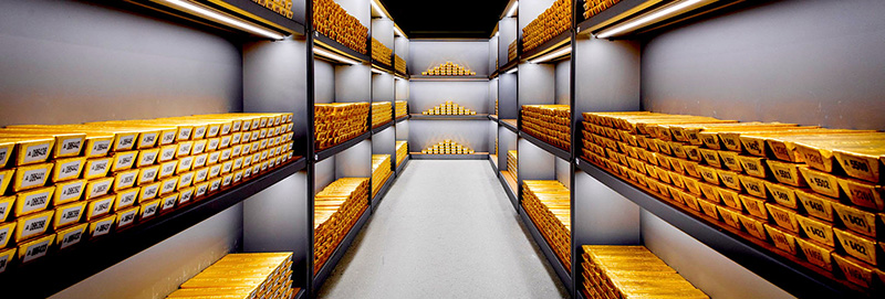 Vault Full of Gold Bars
