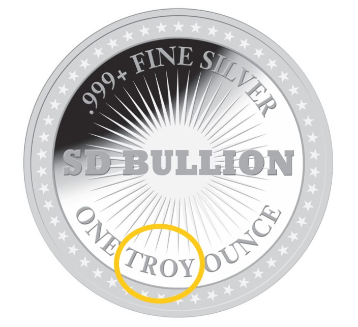 Troy Ounce - Silver Round