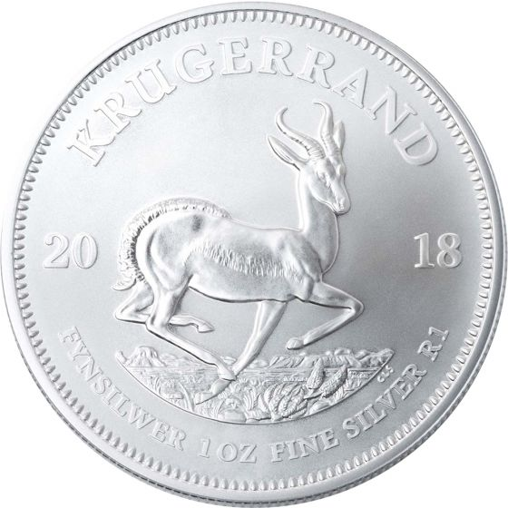 2018 South African Mint Krugerrand Silver Bullion Coin Obverse