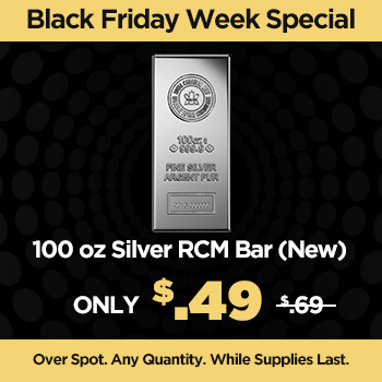 100 oz Silver RCM Bar