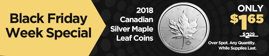 2018 Canadian Silver Maple Leaf