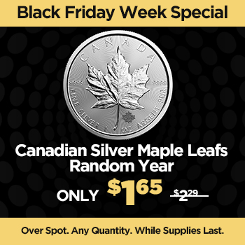 Canadian Silver Maple Leafs - Random Year