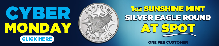1 oz Sunshine Mint Silver Eagle Round