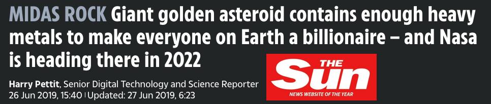Asteroid Mining Precious Metals Clickbait example 2 SD Bullion