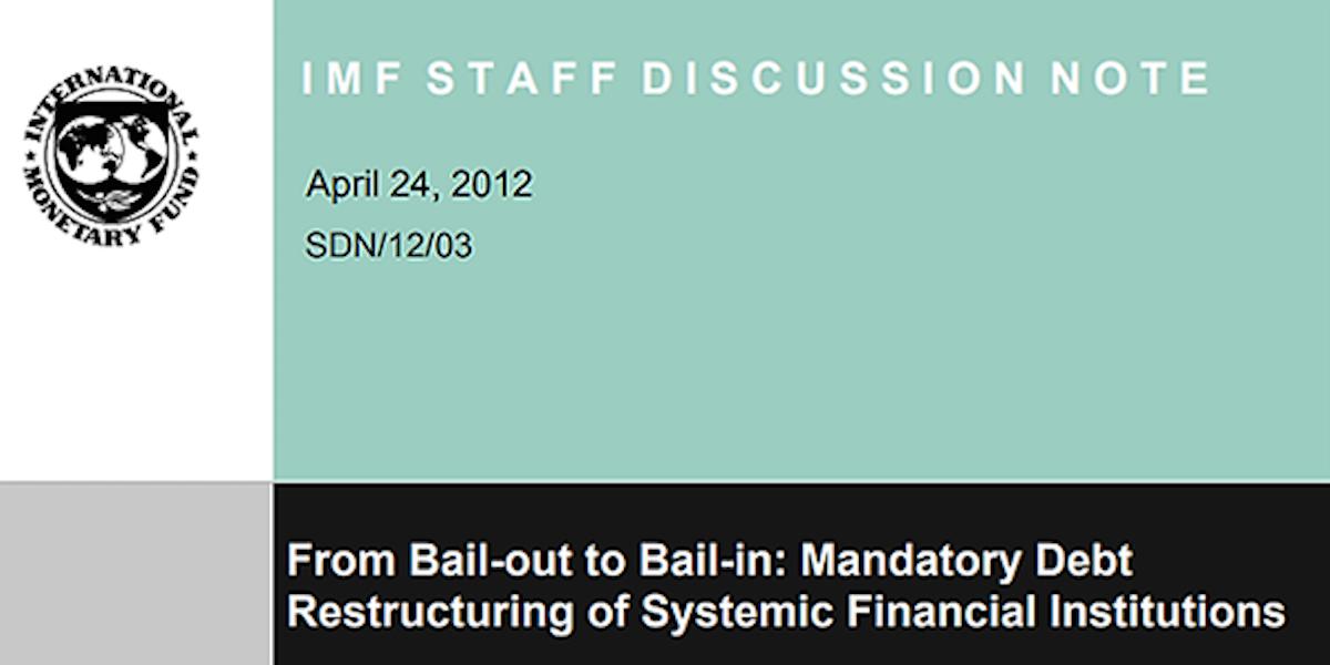 New Financial Crisis Laws: Bank Bail-ins, Money Market Freeze