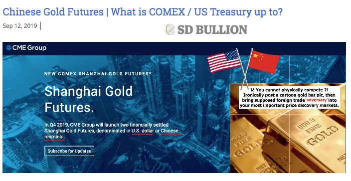 Chinese Gold Futures | What is COMEX / US Treasury up to?