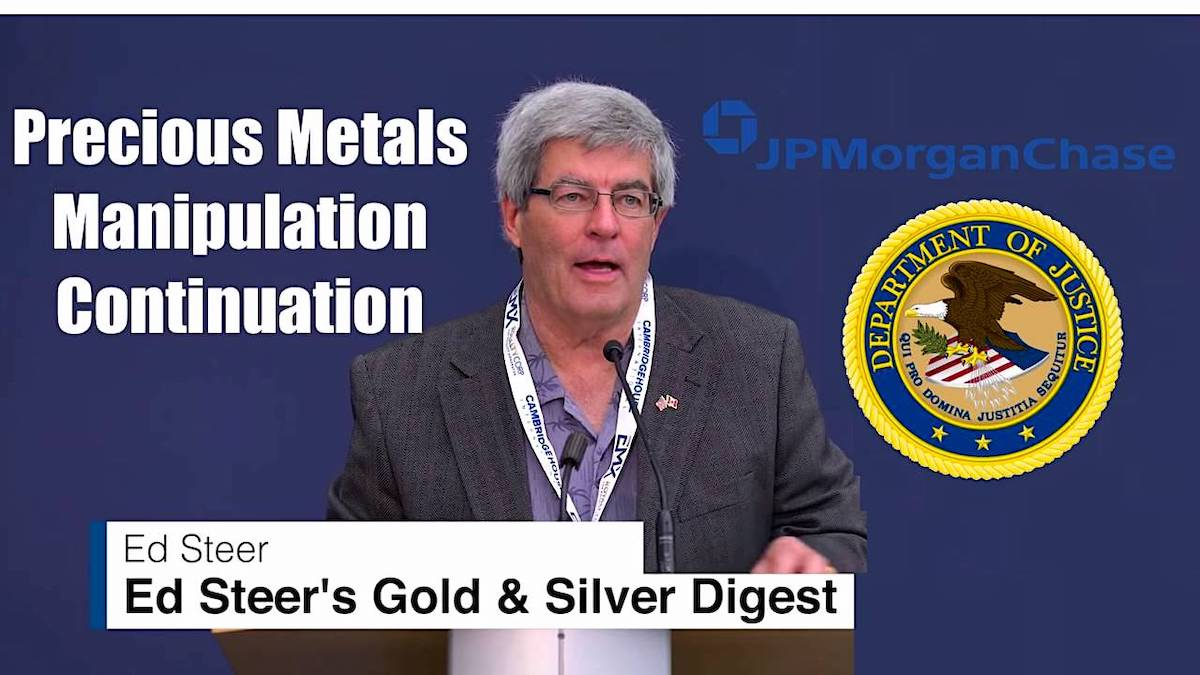 JP Morgan Silver Precious Metal Lawsuit DOJ Ed Steer