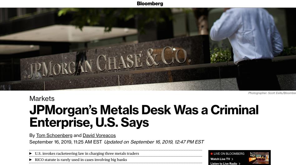 JP Morgan Silver Conspiracy Fact? | DoJ Comes Down Hard