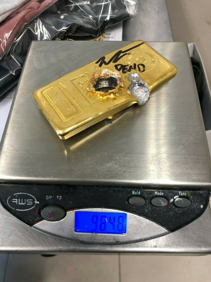 Gold Bullet Video 50 Caliber Bullet Vs Gold Kilo Bar