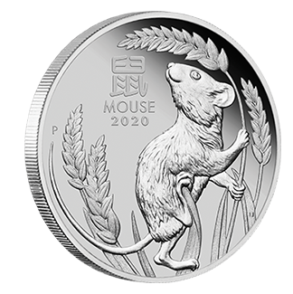 2020 1 oz Year of the Mouse Platinum Proof Coin
