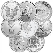 Random 1 oz Silver Coins