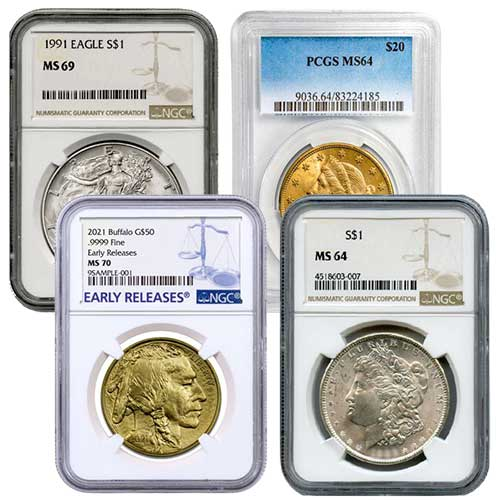 Certified US Mint Gold & Silver