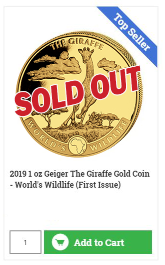 Buy The Running Giraffe - Gold