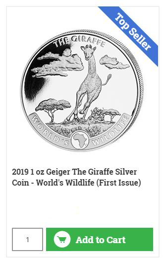 Buy The Running Giraffe - Silver