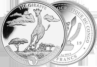 Silver Geiger Giraffe